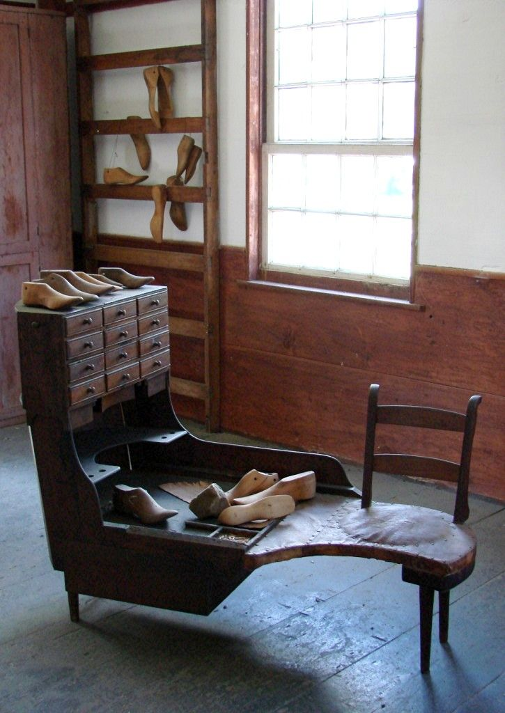 Hancock Shaker Village  - a great shot of an extremely efficient and functional cobbler's bench, just minutes from the Inn at Silver Maple Farm.