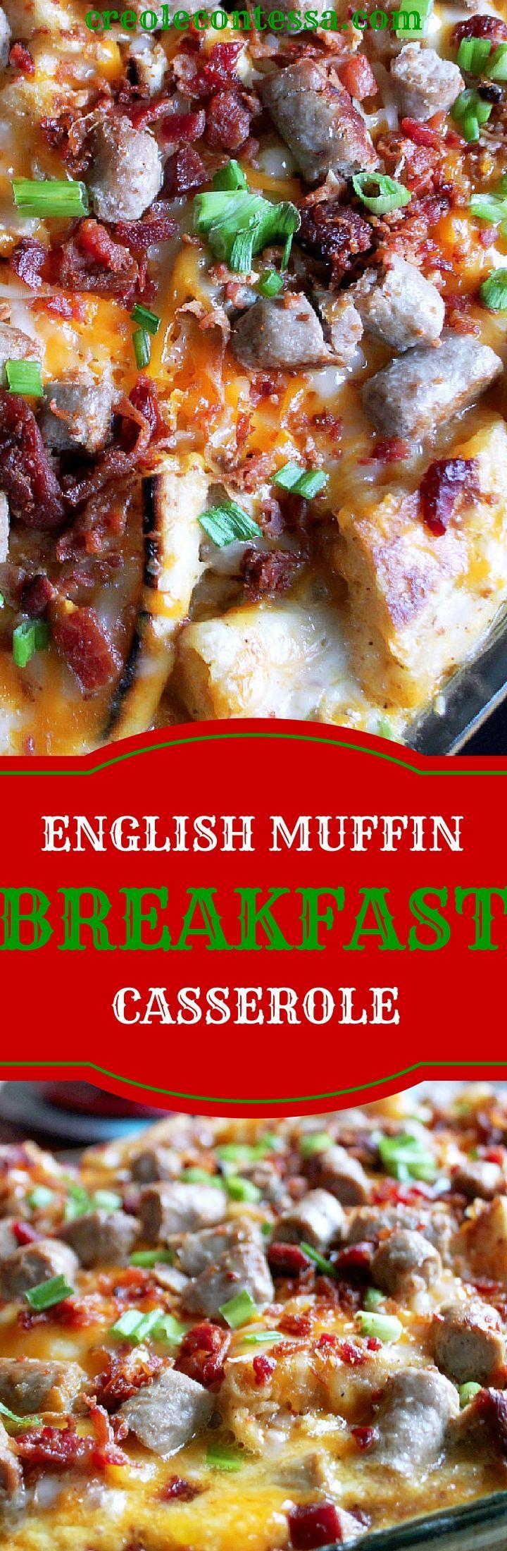 English Muffin Breakfast Casserole-Creole Contessa: