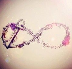 I love this infinity symbol but I would put a bible verse in it instead.