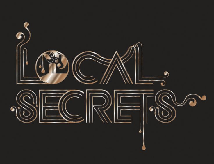 Local Secrets Typography by Atelier 1000 Words.