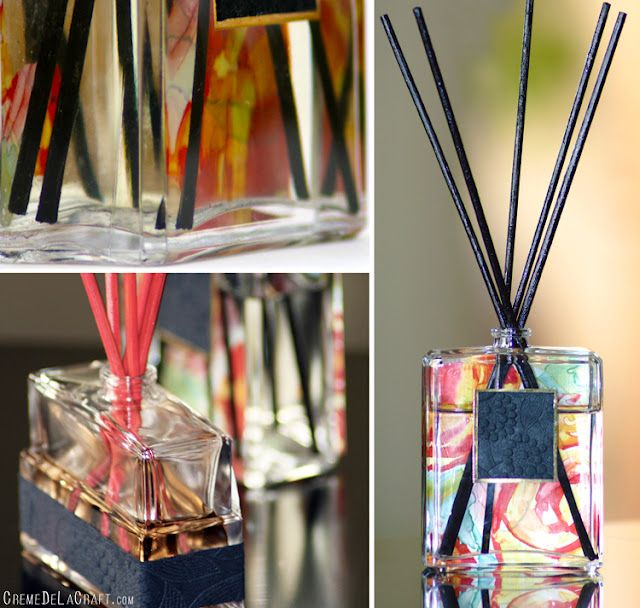 DIY - Reed diffuser from a perfume bottle #upcycle