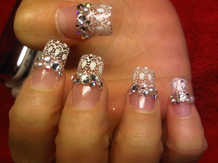 Famous Bling Nail Designs for Wedding and Casual Parties : Bling Nail Tips  Ideas For Girl. bling nail art,bling nail pictures and photos,nail designs  with ... - 27 Best Coolest Wedding Nail Art Ideas Images On Pinterest Nail