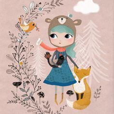 Illustration Rebecca_Jones_Nature-Girl