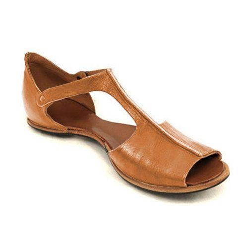 Vintage schwarze flache Peep Toe Slip On Sandalen Plus