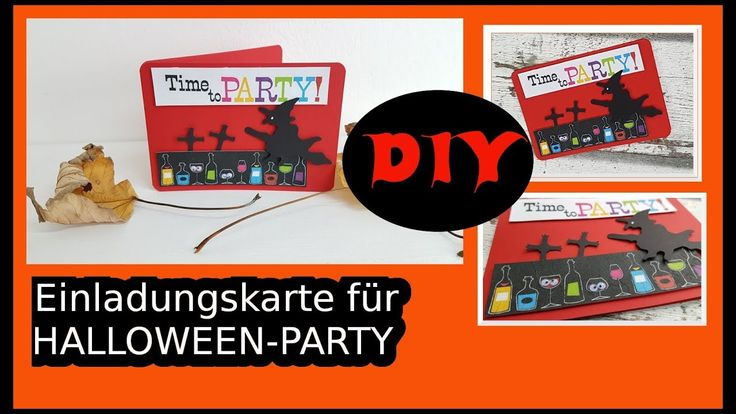 Einfache Halloween Einladungskarte DIY  | cardmaking [Tutorial | deutsch] Natürlich könnte man diese auch als Geburtstagskarte nehmen ;-) Ich erkläre Euch Schritt-für-Schritt wie es geht. Heute mal wieder mit Serviettentechnik. Viel Spaß mit der Anleitung!