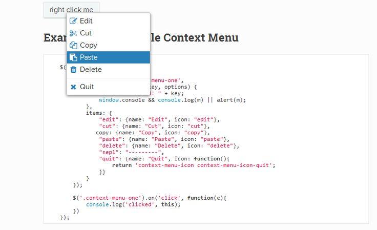 Context menu in web application? Simply use this great jQuery context menu plugin.