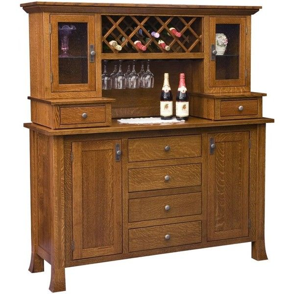 Alicia Wine Cabinet With Hutch ($3,505) ❤ Liked On Polyvore Featuring Home,  Furniture