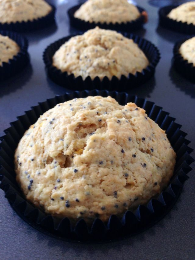 Healthy, Orange & Poppy Seed Muffins! | Yum | Pinterest