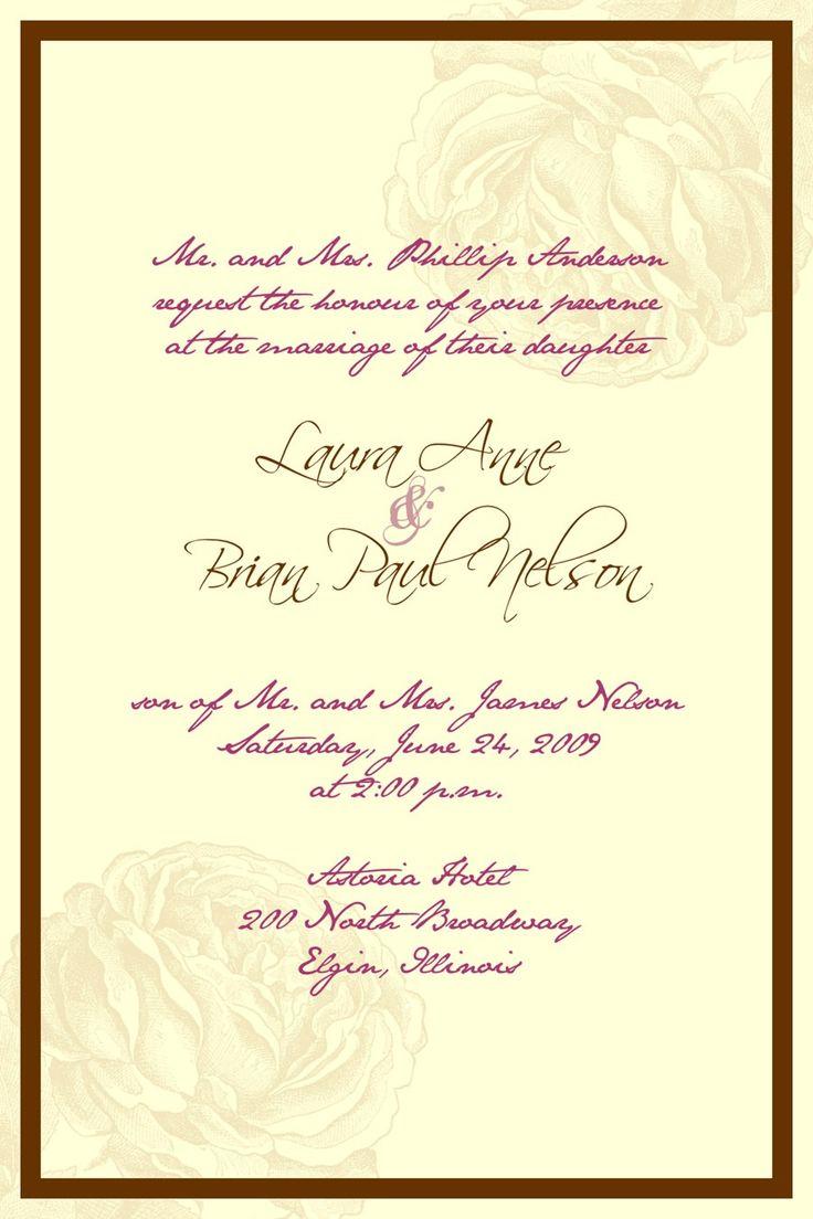 wedding invitation wording - Google Search
