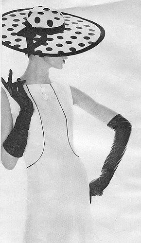 Schwarzer Polkadot Hut Butterick – #60er #Butterick #Hut #Polkadot #Schwarzer