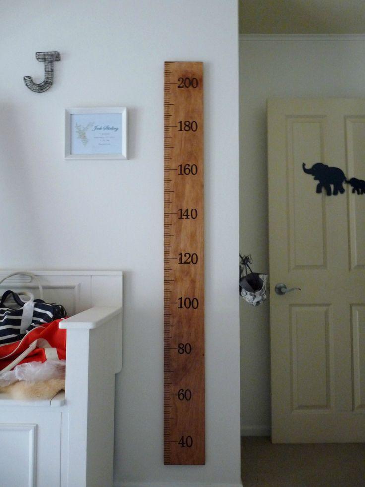 Wooden Ruler Growth Chart | Felt