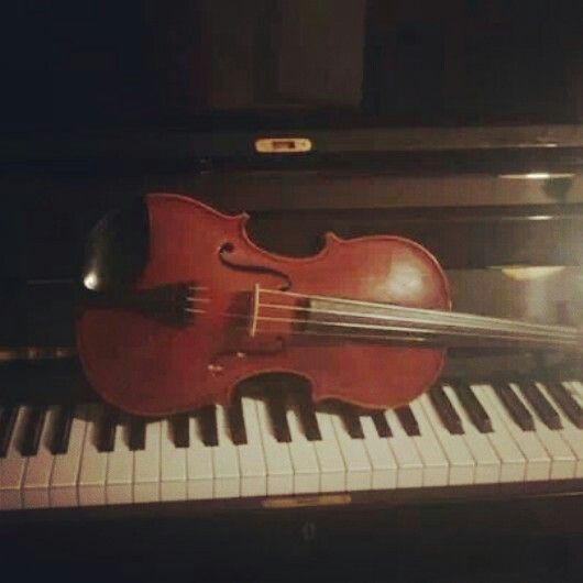 My piano and my violin