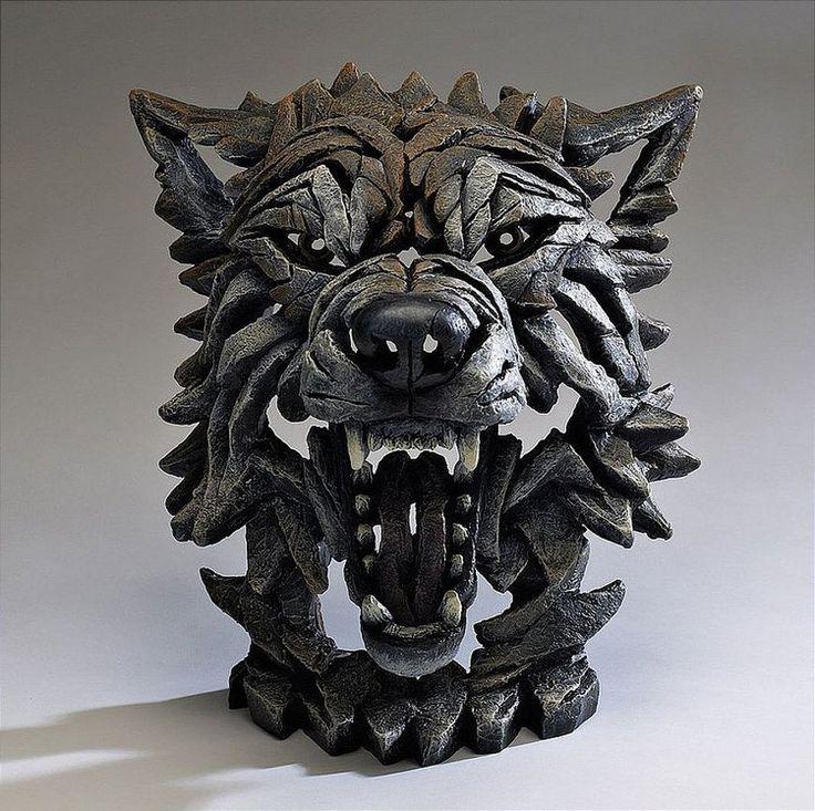 EDGE SCULPTURE - WOLF by Matt Buckley