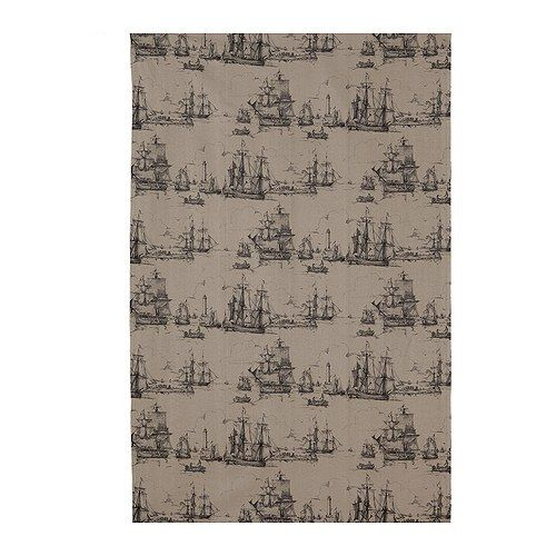 BENZY SKEPP ship printed fabric from IKEA. $7.99/ yard