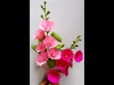 Easy Flori de hârtie - Hollyhock / nalbă