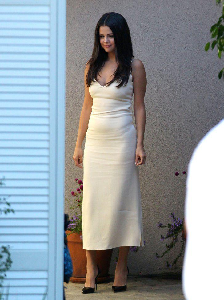 Selena Gomez Looks Unbelievably Hot in This Slinky White Dress