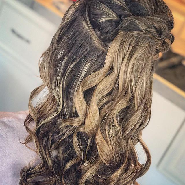 39 Neue Frisur Halboffen – Frisuren Damen – #Dam…