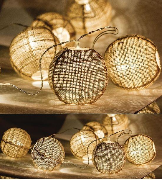 Kézzel készített, különleges, dekoratív LED fényfüzér ünnepi dekorációra, karácsonyra, vagy csak hangulatvilágításként. Elemekkel működik, így...