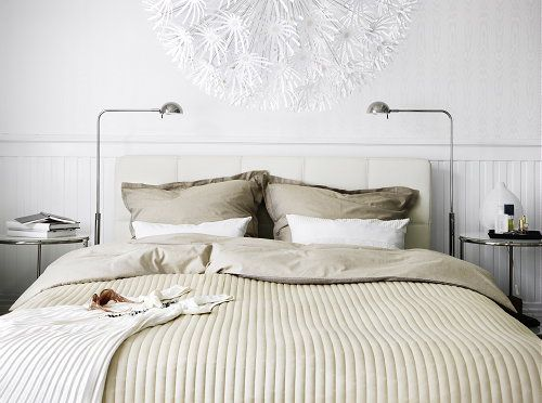 ikea bedroom trends duken ikea bed and bed linen scandinavian white ikea - Duken Bed Frame