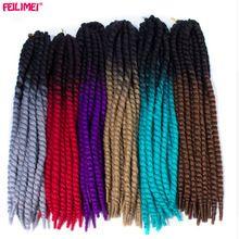 Feilimei Ombre Mambo Twist Crochet 120g 2X jumbo senegalese twist Braids Synthetic Black Blonde Gray Purple Blue Hair Extensions //FREE Shipping Worldwide //