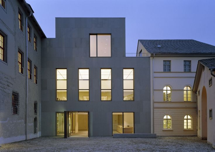 Anna Amalia library extension in Weimar by Karl Heinz Schmitz and Rittmannsberger Architekten.