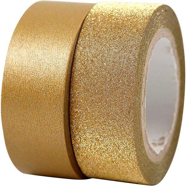 Design-teippi, lev. 15 mm, 2 rll, kulta