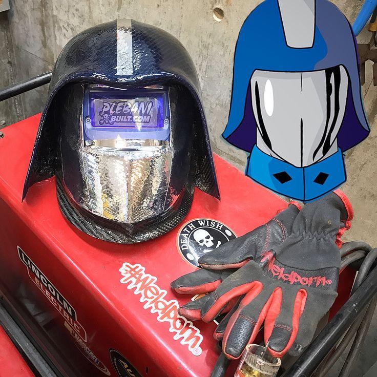 Carbon fiber cobra commander welding hood welding hoods