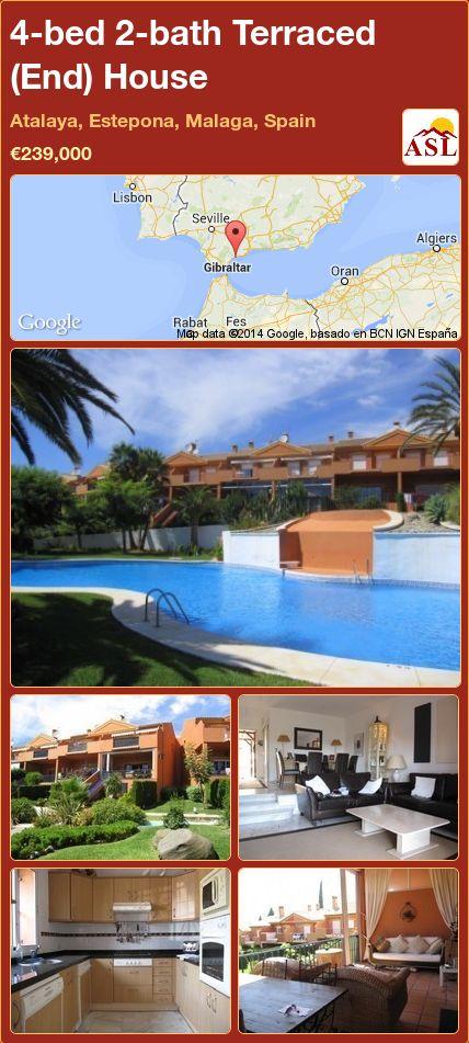 4-bed 2-bath Terraced (End) House in Atalaya, Estepona, Malaga, Spain ►€239,000 #PropertyForSaleInSpain