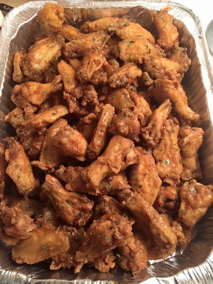 White Hennessy Wings Fry wings w/o flour....and toss w/honey, garlic, 2 tbs of henny, and thyme leaves (simmer the sauce first)