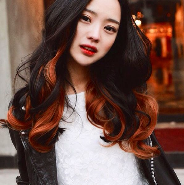 20 Hottest New Highlights for Black Hair  Copper, Two tones and Ulzzang