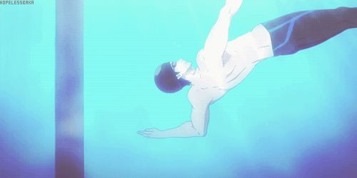 Free! ES ~~ This was just plain fantastic.  Rei showing off his skills at different strokes ...