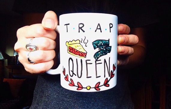 *Current processing time approximately 1 week, message me if you have a rush order!*  I had to do it guysssss. TRAP QUEEN  *Custom design requests are always welcome*:  https://www.etsy.com/listing/221423640/custom-mug-order?ref=shop_home_active_5  Message me with any inquiries!  :)  ***Follow me on Instagram for sneak peaks at new work! @meganpadovanodesign   ________________________________________________________________________ **Please note all original designs are not for reproduction…