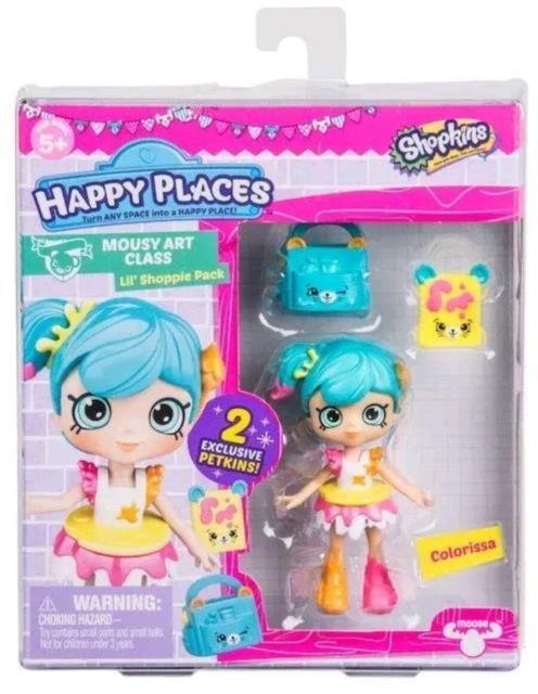 NEWEST RELEASE Shopkins Lil Shoppies COLORISSA DOLL Happy Places MOUSY ART CLASS | eBay