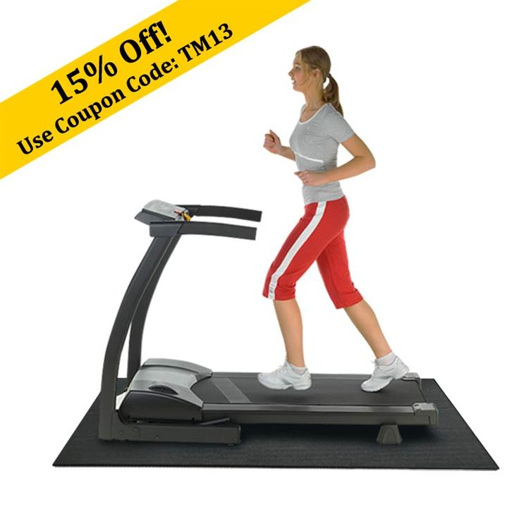 Treadmills can make so much noise.  That noise will be a thing of the past with our Treadmill mat!    http://www.rubberflooringexperts.com/products-on-sale/treadmill-mat-recycled-rubber-mats.html