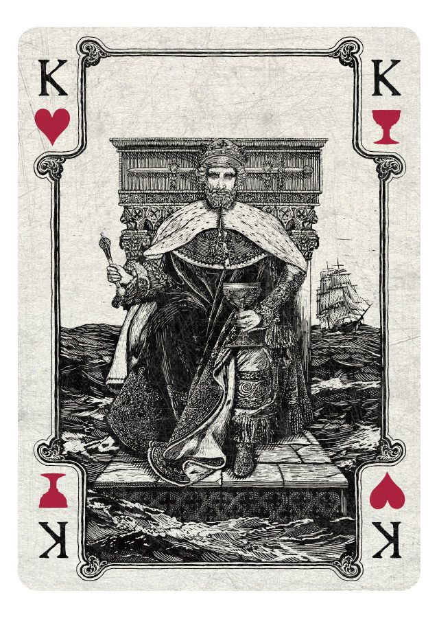 King of Hearts/Cups light - If you love Tarot, visit me at www.WhiteRabbitTarot.com