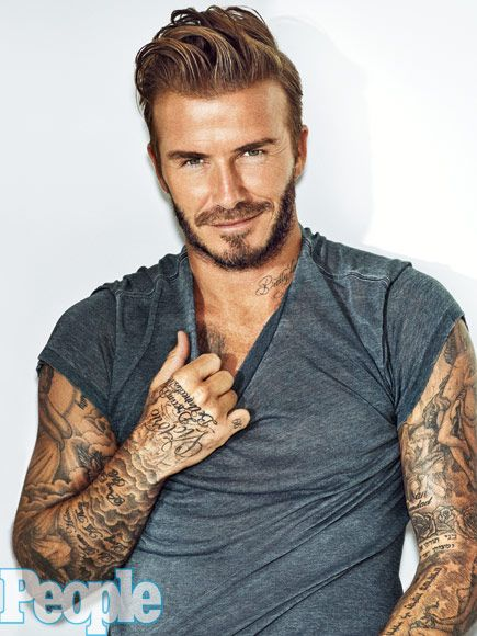 We're Thankful for These 8 Sexy Shots of David Beckham | 1. THE 'JUST A LITTLE PEEK' |