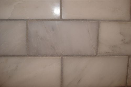 Laticrete grout in Silver Shadow (with flash) by JeanninePC99, via Flickr