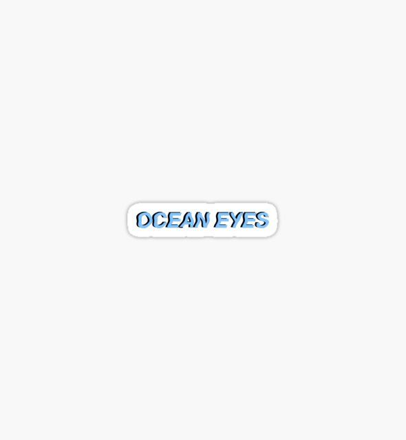 Ocean Eyes Billie Eilish By Katieraphh Billie Eilish Ocean Eyes Blue Aesthetic Hype Wallpaper
