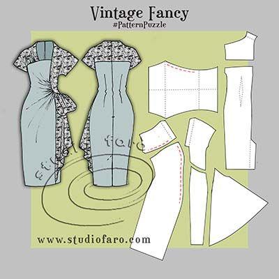 #PatternPuzzle Vintage Fancy pattern making instructions.