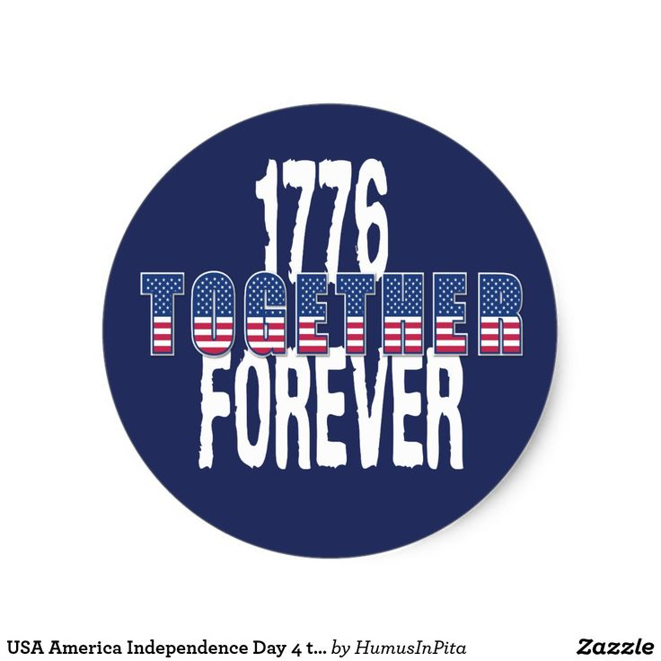 USA America Independence Day 4 th July Patriotic Classic Round Sticker