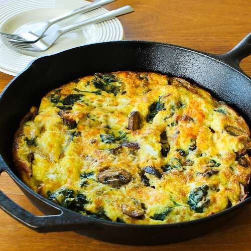 Mushroom Lover's Frittata with Spinach and Cheese [from Kalyn's ...