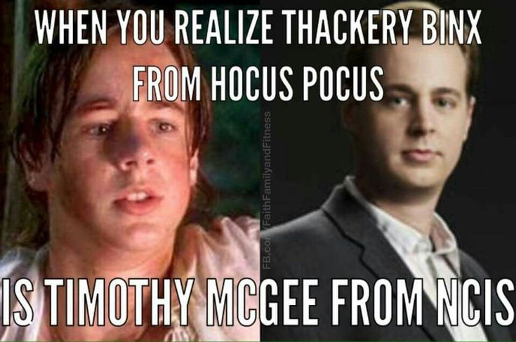 Sean Murray played Thackery Binx off of the movie Hocus Pocus and he now plays Timothy McGee of of NCIS.
