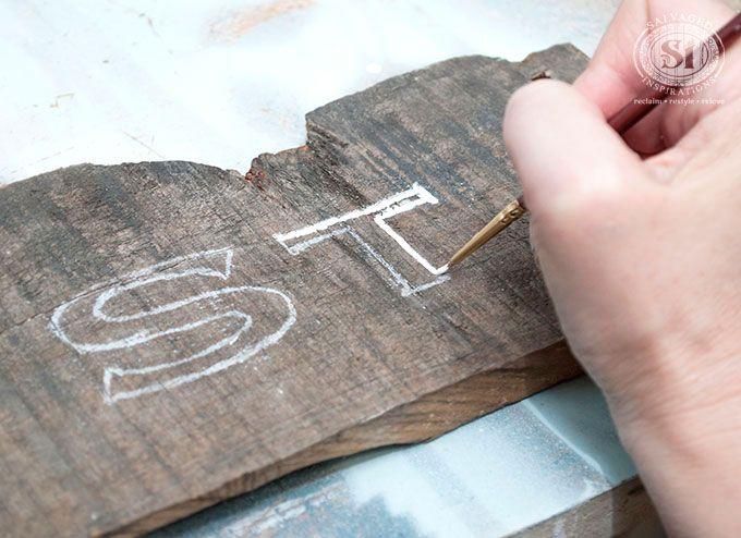 転写シートを使わずコピー用紙とチョークだけで木材に文字や絵を簡単に転写する方法
