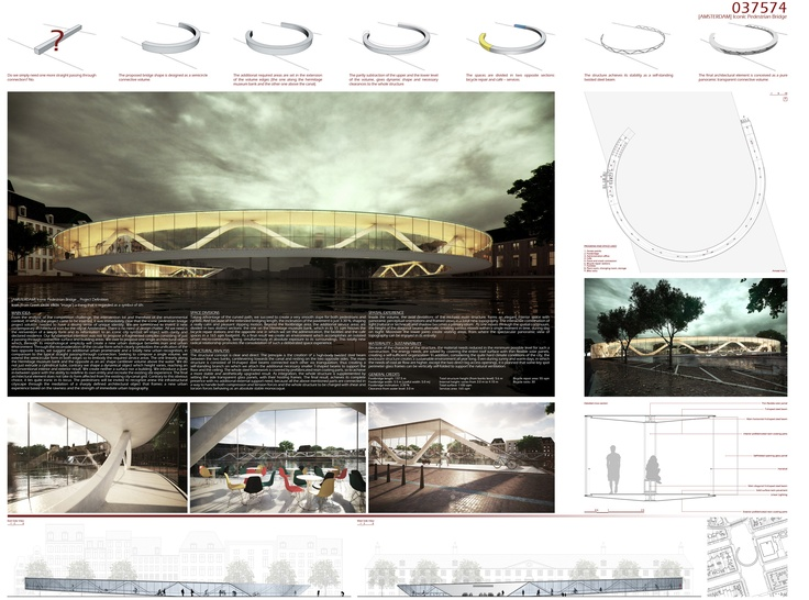 [A3N] : Amsterdam Iconic Pedestrian Bridge Competition Winners / PLUSRchitecture
