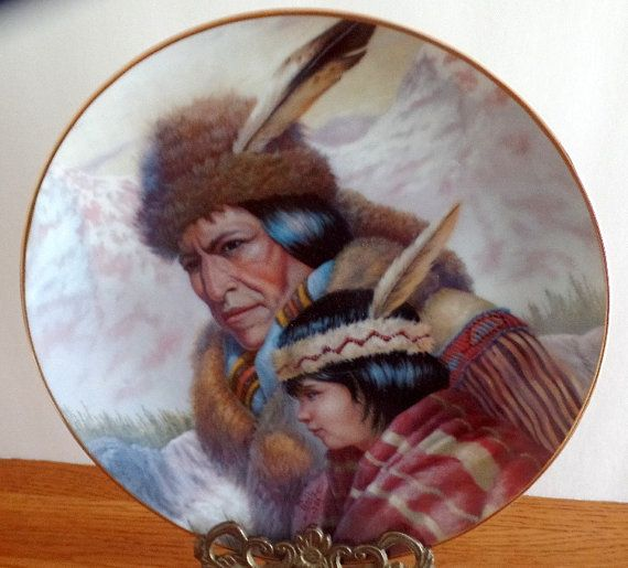 The Nez Perce Nation by Perillo collector plate.  7Th issue