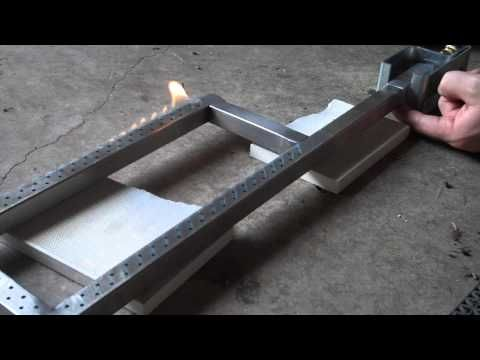 Super Simple DIY Propane Ribbon Burner For Boilers and Forges - YouTube