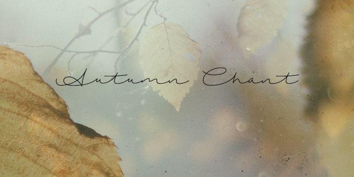 Autumn Chant | dafont.com
