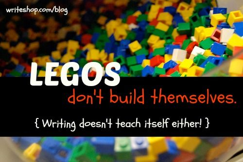 What do Legos and writing have in common? Encouraging tips for teaching writing. {via In Our Write Minds}