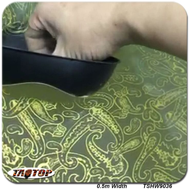 TAHW9036 Size 0.5m 10m New Transparent Gold Flower Pattern Liquid Image Film Hydrographic Film Water Transfer Printing Film