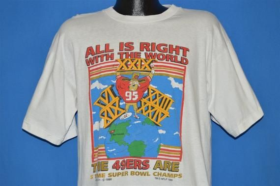 61fab9c4769 90s San Francisco 49ers Super Bowl XXIX t-shirt Large in 2019 ...